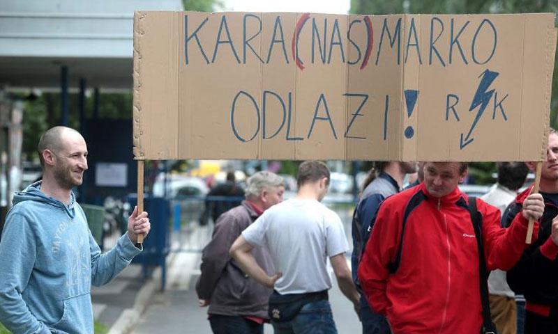Radnici Končar Elektro-industrije prosvjedovali su nedavno zbog skidanja njihove tvrtke s popisa oni