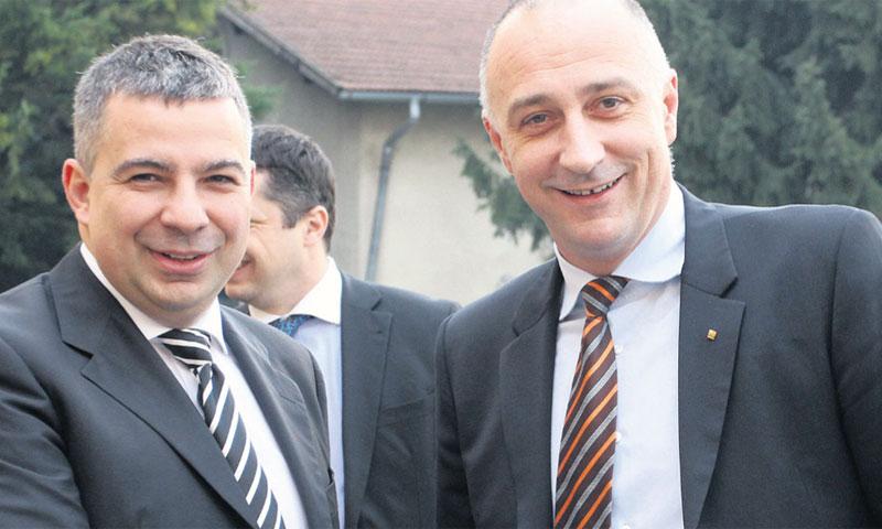 Predsjednik Uprave Ine Zoltan Aldott i ministar Ivan Vrdoljak, nekada u dobrim odnosima, danas u otv