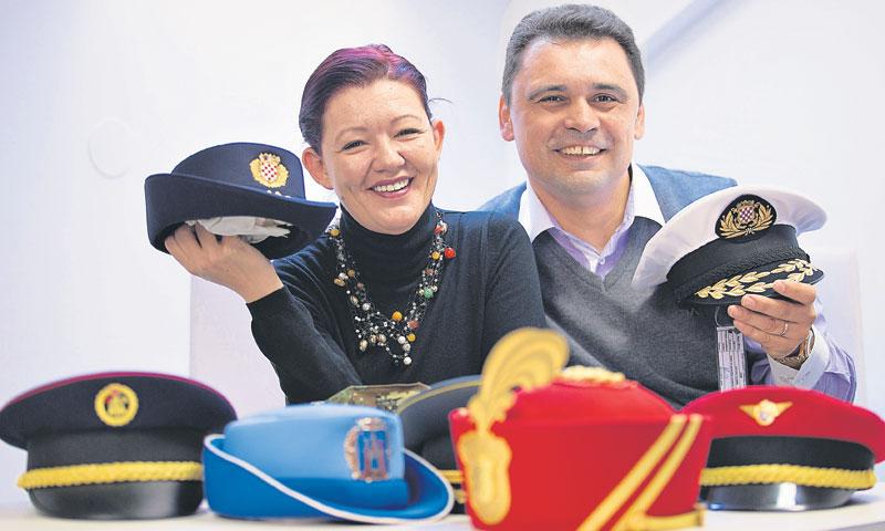Ivana i Danijel Kovač vode biznis proizvodnje kapa/Davor Puklavec/PIXSELL