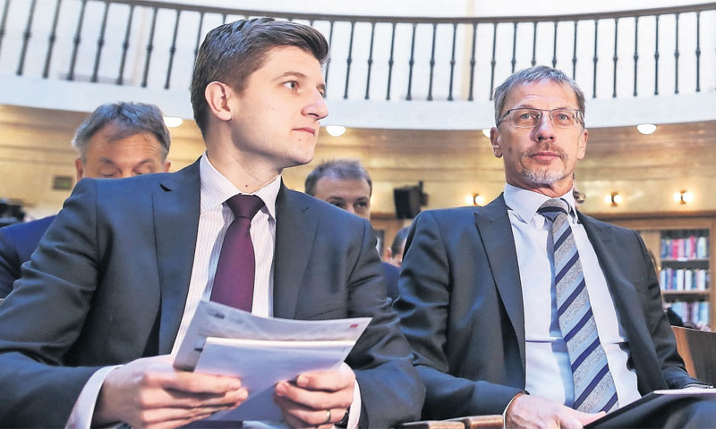 Ministar financija Zdravko Marić i guverner HNB-a Boris Vujčić/Igor Šoban/PIXSELL