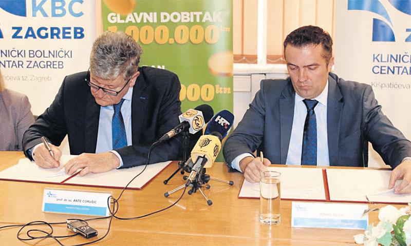 Sporazum o partnerskoj suradnji Ravnatelj KBC-a Zagreb Ante Ćorušić i predsjednik Uprave Hrvatske Lu