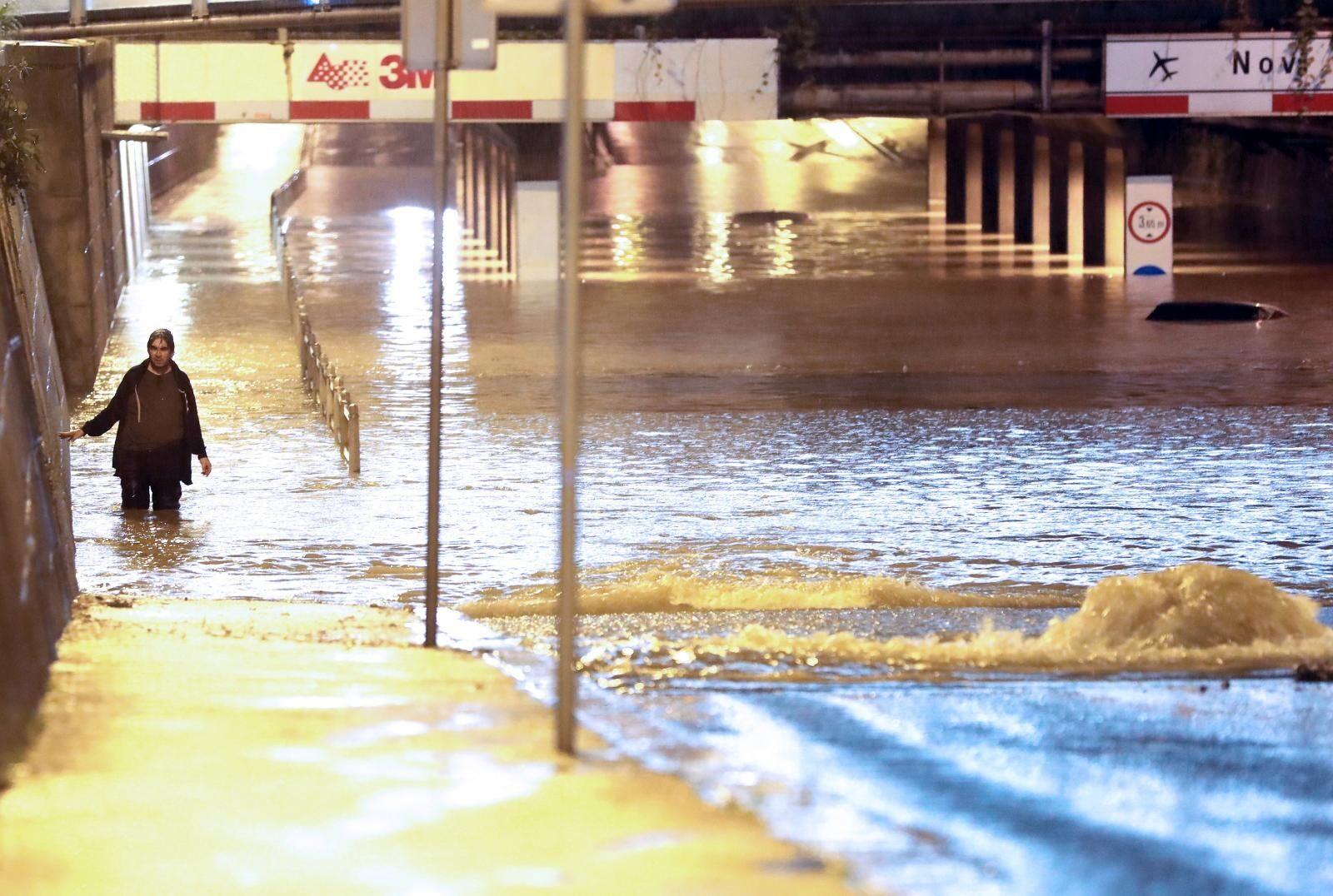 Jaka kiša poplavila Zagreb