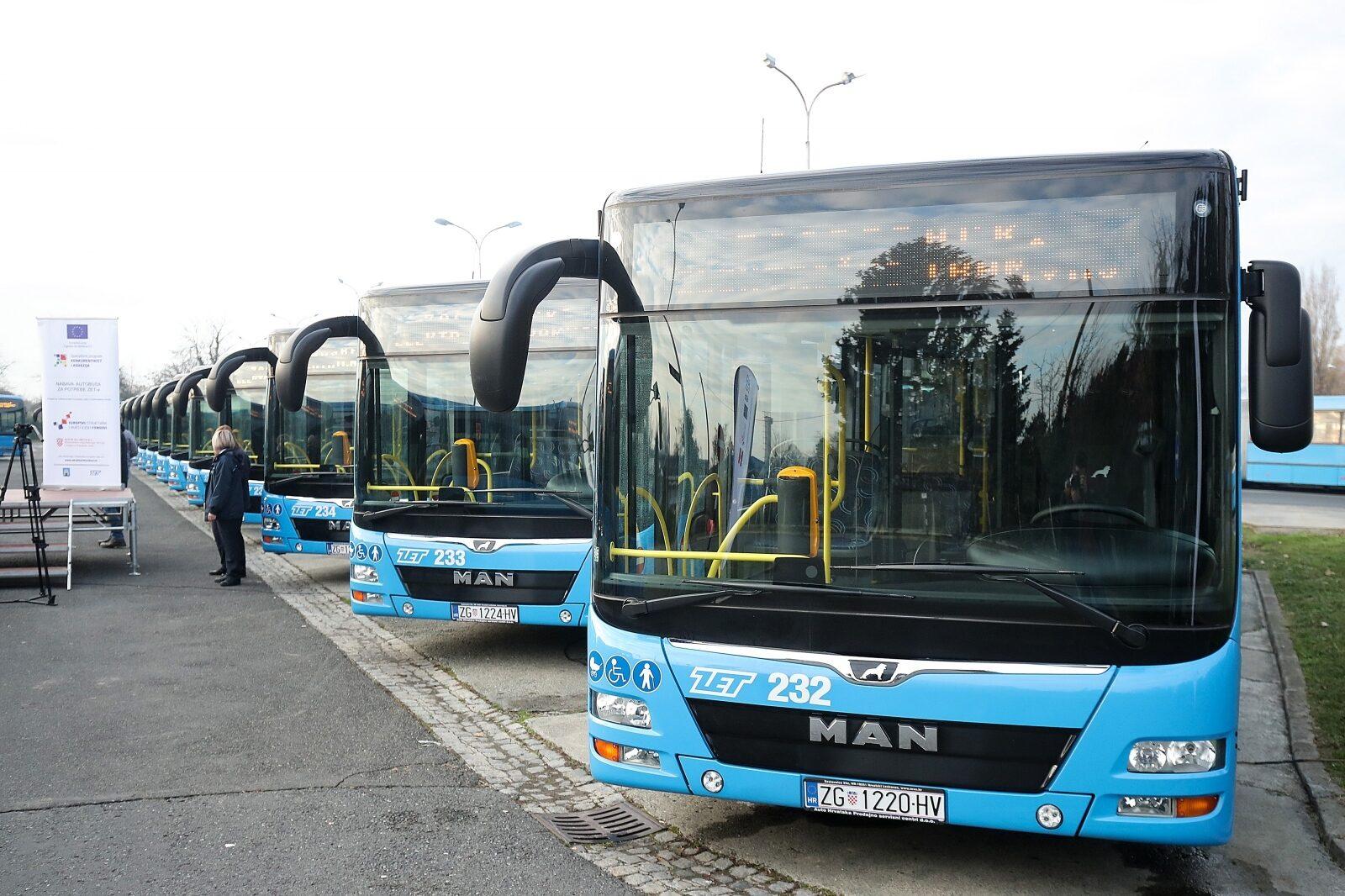 Zagreb: Gradonačelnik Bandić i ZET predstavili novih sedam autobusa